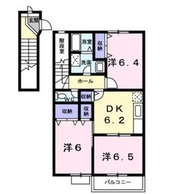 ラフィネヴィラ2階Fの間取り画像