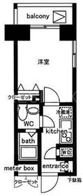 人形町駅 徒歩1分11階Fの間取り画像