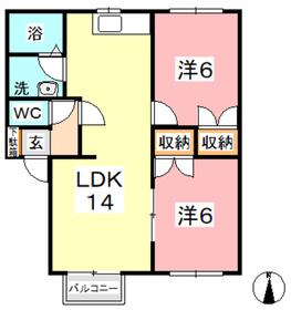 トランキル金光 C2階Fの間取り画像