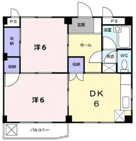 杉山ビル2階Fの間取り画像