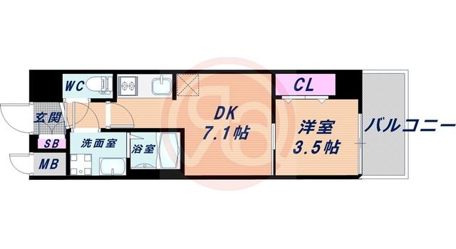 6階の間取り図
