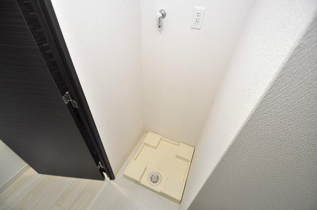 Forest Grace 深江橋Ⅱ 嬉しい室内洗濯機置場。これで洗濯機も長持ちしますね。