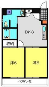 クレストK26階Fの間取り画像