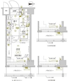 レアライズ新丸子6階Fの間取り画像