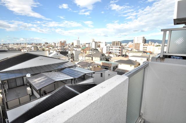 シティハイム南巽 バルコニーは眺めが良く、風通しも良い。癒される空間ですね。