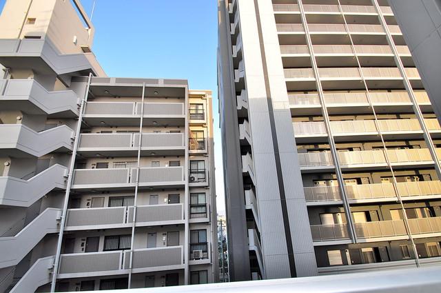 グランメール高井田 この見晴らしが日当たりのイイお部屋を作ってます。