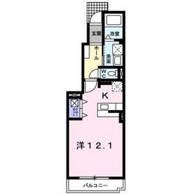 ペニーレインB1階Fの間取り画像