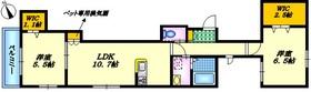 Casa Familie ペット共生4階Fの間取り画像