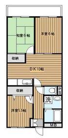 新杉田駅 徒歩25分3階Fの間取り画像