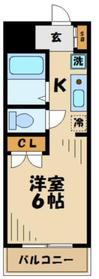 マンションモーリエ5階Fの間取り画像