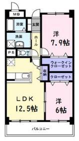 本厚木駅 徒歩22分6階Fの間取り画像