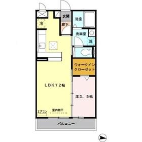 ロイヤルヒルズ武蔵浦和A1階Fの間取り画像