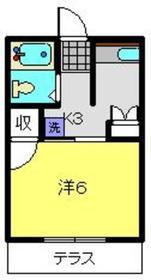 パーク横浜1階Fの間取り画像