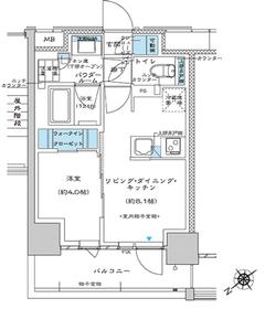 プレミスト板橋2階Fの間取り画像
