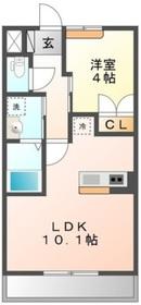 ライジング・サン2階Fの間取り画像