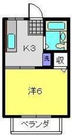 山口ハイツ53階Fの間取り画像
