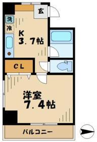 メディカルハウス多摩3階Fの間取り画像