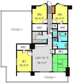 磯子レジデンス4階Fの間取り画像