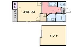 クレオ室見弐番館2階Fの間取り画像