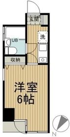 MAC平山城址公園コート1階Fの間取り画像