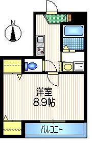 ウエスト・コート4階Fの間取り画像