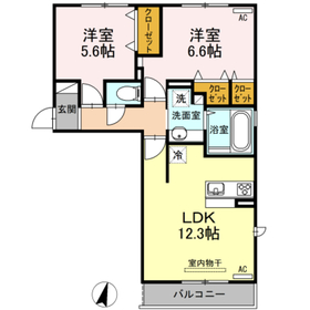 上徳I2階Fの間取り画像