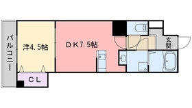 Casa大濠西8階Fの間取り画像