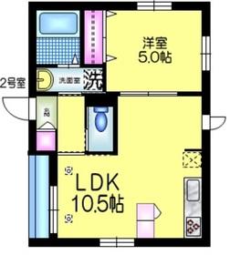 メゾン ド フェリシア3階Fの間取り画像