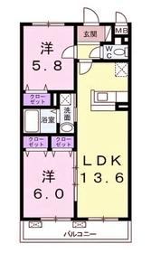 柿生駅 徒歩13分3階Fの間取り画像