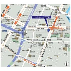 パークキューブ八丁堀案内図