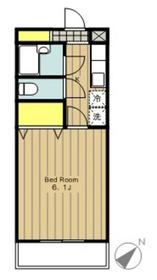 エストゥディオ2階Fの間取り画像