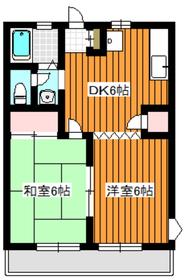 クリスタルハイム2階Fの間取り画像