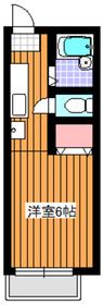 地下鉄赤塚駅 徒歩8分1階Fの間取り画像