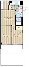 グランキューブ新百合ヶ丘2階Fの間取り画像