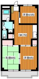 第2オリエンタルマンション1階Fの間取り画像
