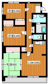 ロワイヤル守屋3階Fの間取り画像