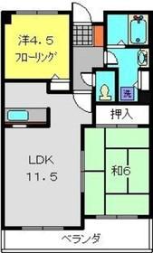 綱島駅 徒歩11分2階Fの間取り画像