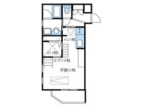 ドマーニ桜台2階Fの間取り画像