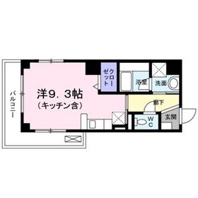 喜久屋ビル8階Fの間取り画像