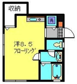 プランドール1階Fの間取り画像
