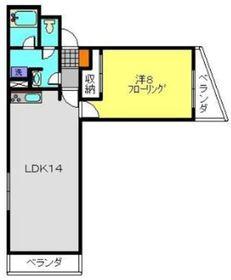 ヴィラMGⅡ2階Fの間取り画像