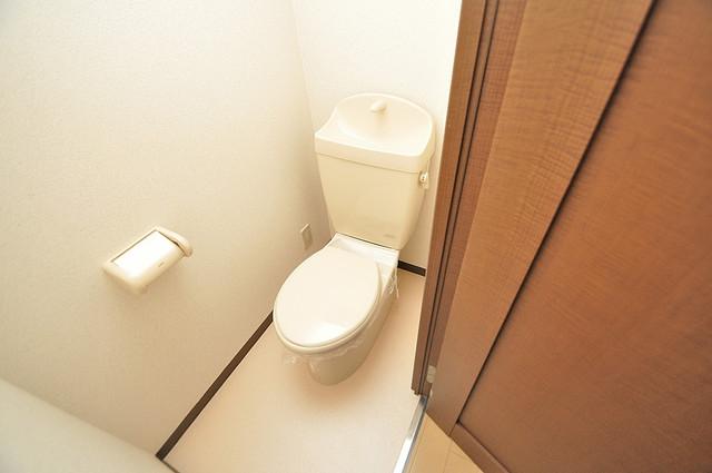 フジパレス フォンターナⅡ番館 白くてピカピカのトイレですね。癒しの空間になりそう。