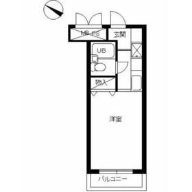 スカイコート宮崎台第34階Fの間取り画像