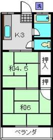原コーポ2階Fの間取り画像