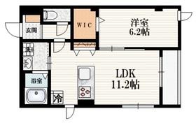 North Side 111階Fの間取り画像