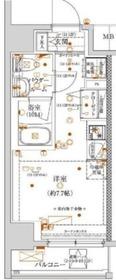 クラリッサ川崎グランデ10階Fの間取り画像