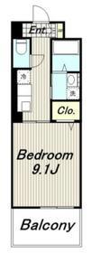 アンソレイユ多摩5階Fの間取り画像