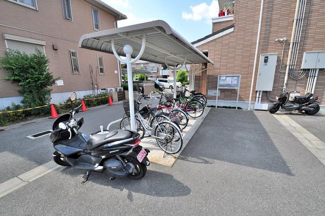 メゾン・みのうら あなたの大事な自転車も安心してとめることができますね。