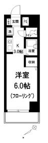 白山Yビルディング6階Fの間取り画像