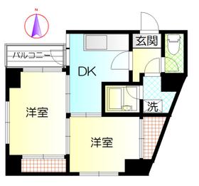 アムールマンション4階Fの間取り画像